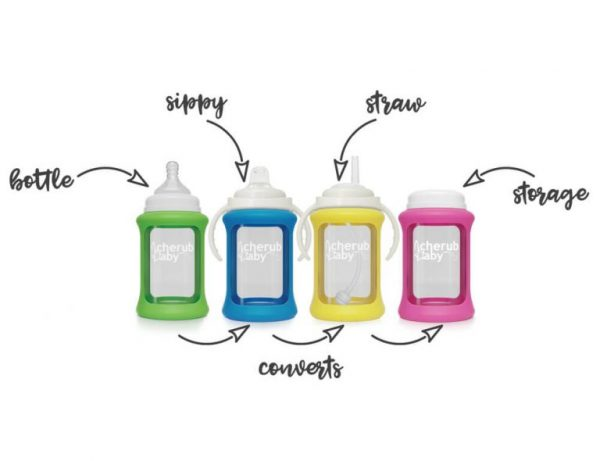 Colour Change Glass Bottles Wide Neck 240ml Single Pack – Blue