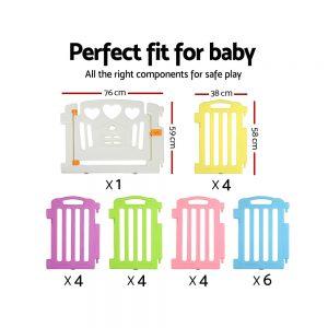 Cuddly Baby 23-Panel Plastic Baby Playpen Interactive Kids Toddler