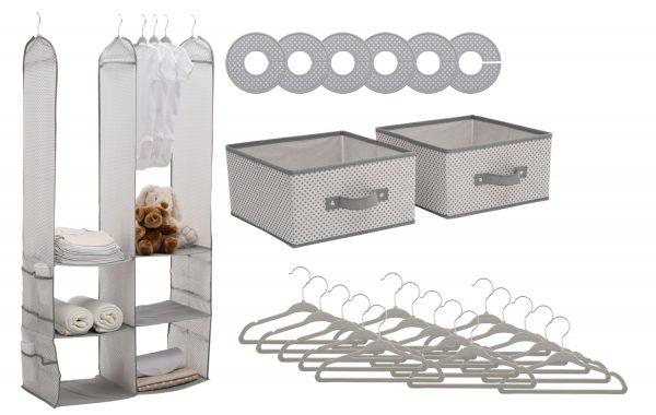 24 Piece Nursery Storage Set - Cool Grey