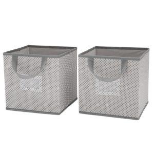 2 Piece Storage Cube Set - Cool Grey