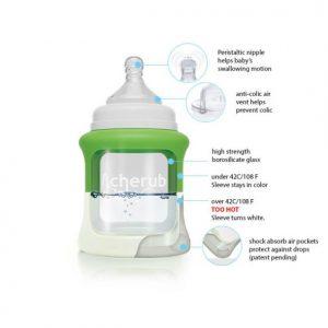 Colour Change Glass Bottles Wide Neck 150ml Single Pack – Green