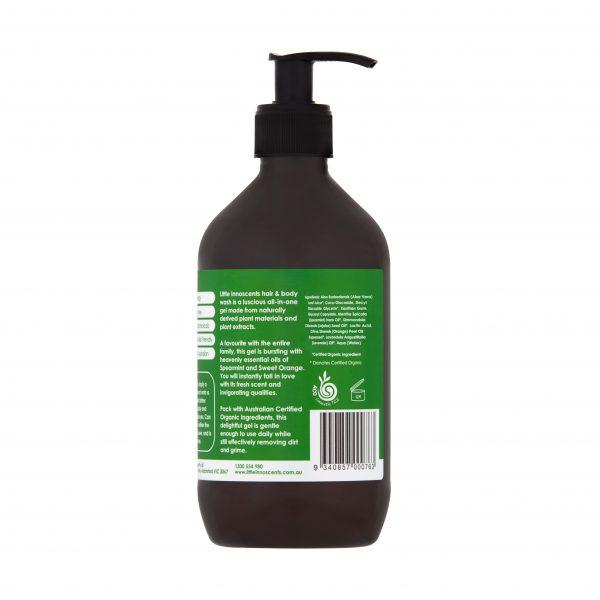 Organic Spearmint & Sweet Orange Hair & Body Wash 500ml