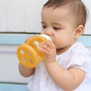 Colour Change Glass Bottles Wide Neck 150ml Single Pack – Orange