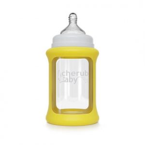Colour Change Glass Bottles Wide Neck 240ml Single Pack – Yellow