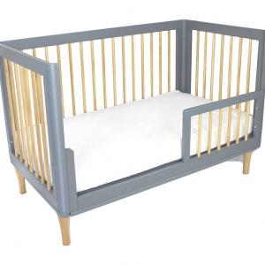 Riya-Cot-toddler-bed-rail-mode-Grey